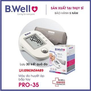 [CHÍNH HÃNG THỤY SĨ - BẢO HÀNH 5 NĂM] Máy đo huyết áp bắp tay tự động B.Well (Pro-35)