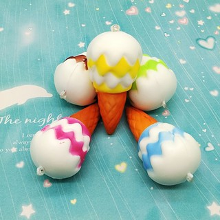 Kawaii Squishy Ice Cream Slow Rising Soft Squeeze Vent Toy Phone Bag Pendant A29