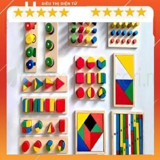 Bộ Giáo Cụ Montessori – 8 Món – Đồ Chơi Giáo Dục Gỗ An Toàn Cho Bé