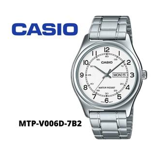 Đồng hồ nam CASIO chính hãng MTP-V006, dây kim loại
