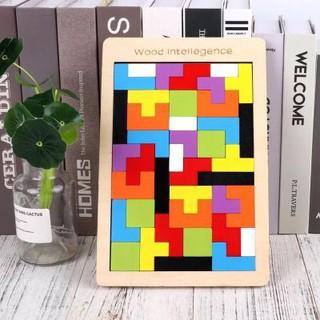 Đồ Chơi Gỗ – Xếp Hình Tetris Mầu Sắc – TG02