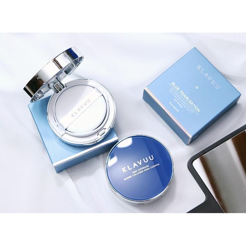 Kết quả hình ảnh cho KLAVUU Blue Pearlsation Collagen Cushion 15g #23