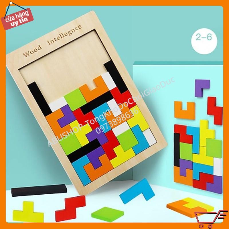 Đồ Chơi Xếp Hình Thông Minh Cao Cấp Size Đại, Tetris xếp gạch A19