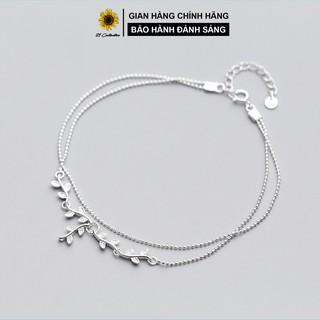 Lắc chân bạc Tiệm bạc 21 Centimeters Nguyệt quế Trang sức bạc Tiệm bạc 21 Centimeters