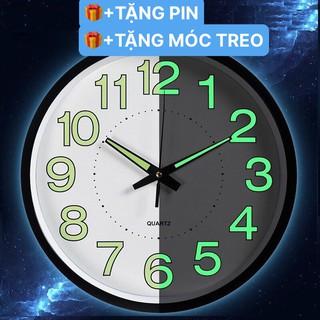 [SALE GIÁ HỦY DIỆT] Đồng hồ treo tường kim trôi dạ quang phát sáng trong đêm -DQ01