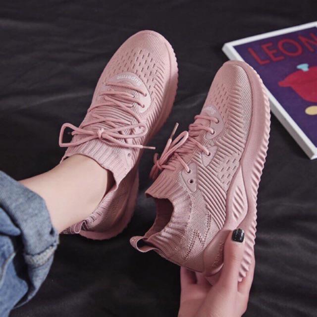 [Mã WSTOPT9 hoàn 30K xu đơn từ 150K] Giày sneaker cổ chun cực đẹp Hot Trend - Kèm clip và ảnh thật