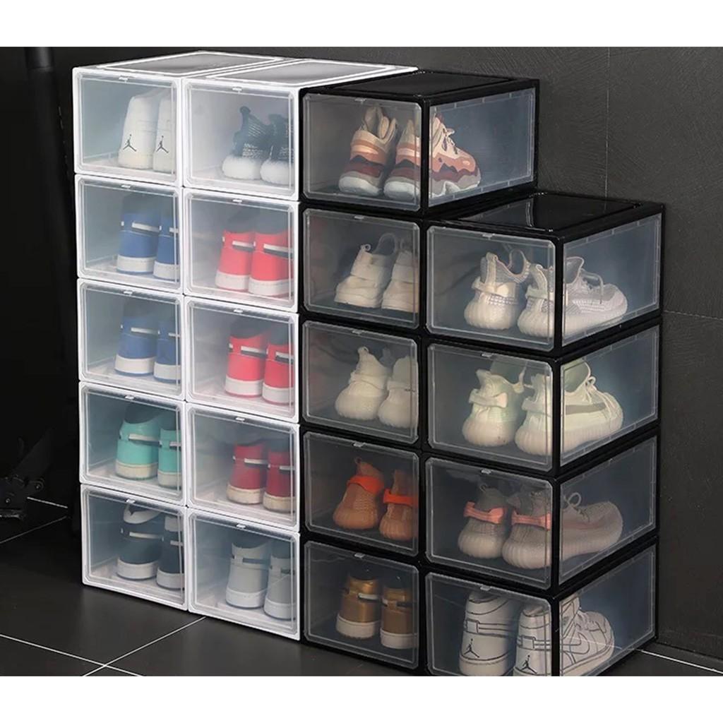Hộp Đựng Giày Nhựa PP Cứng 100% - Tủ Giày Nhựa