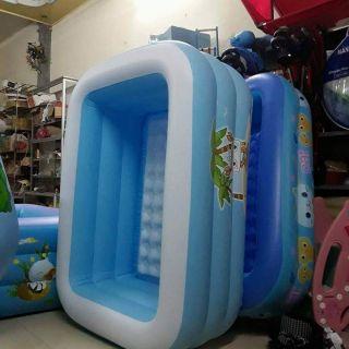 Bể bơi 3 tầng 1m5 màu xanh biển