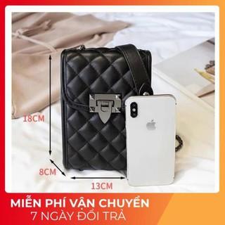 Túi xách nữ đeo chéo 🔥FREESHIP🔥 (Mới) Túi xách nữ đeo chéo mini đựng điện thoại phong cách Hàn Quốc / MÀU ĐEN