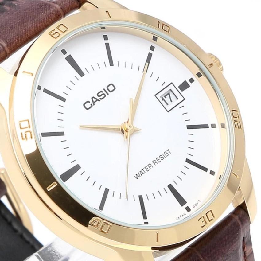 Đồng hồ nam dây da Casio chính hãng Anh Khuê MTP-V004GL-7AUDF