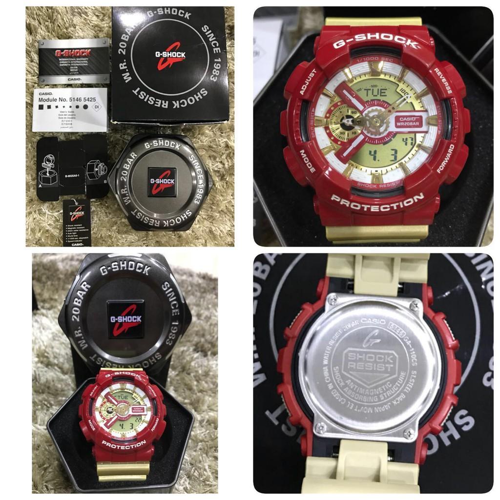 Đồng hồ thể thao nam nữ G-shock GA-110CS-4A Full phụ kiện Đồng hồ kim-điện tử