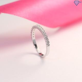 Nhẫn bạc nữ đẹp đính đá trắng tinh tế giá rẻ NN0185 - Trang Sức TNJ