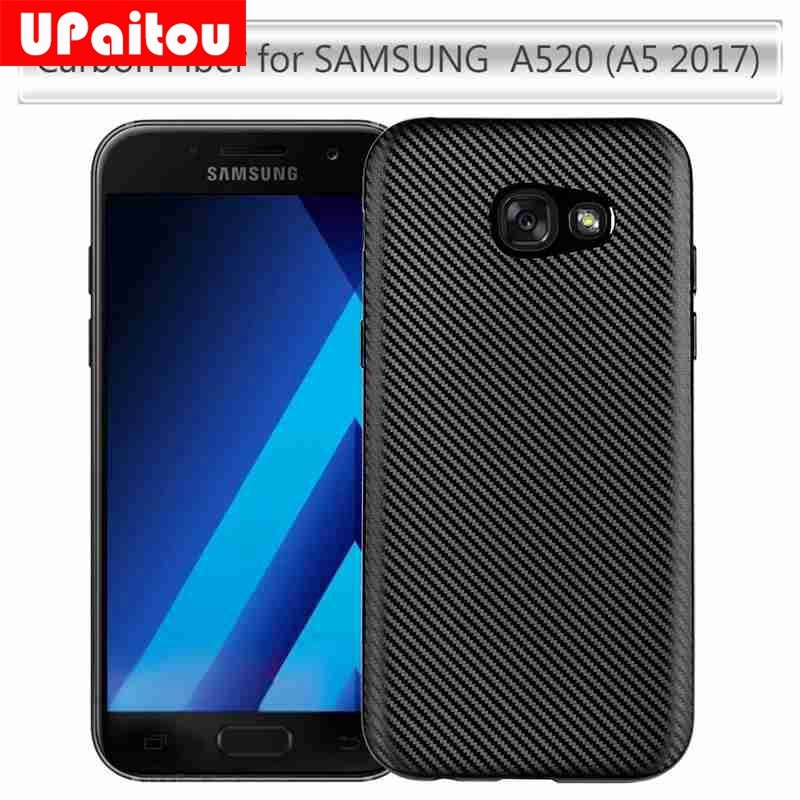 Soft Carbon Fiber Phone Cases for Samsung Galaxy A5 2017 A520F TPU Case Cover