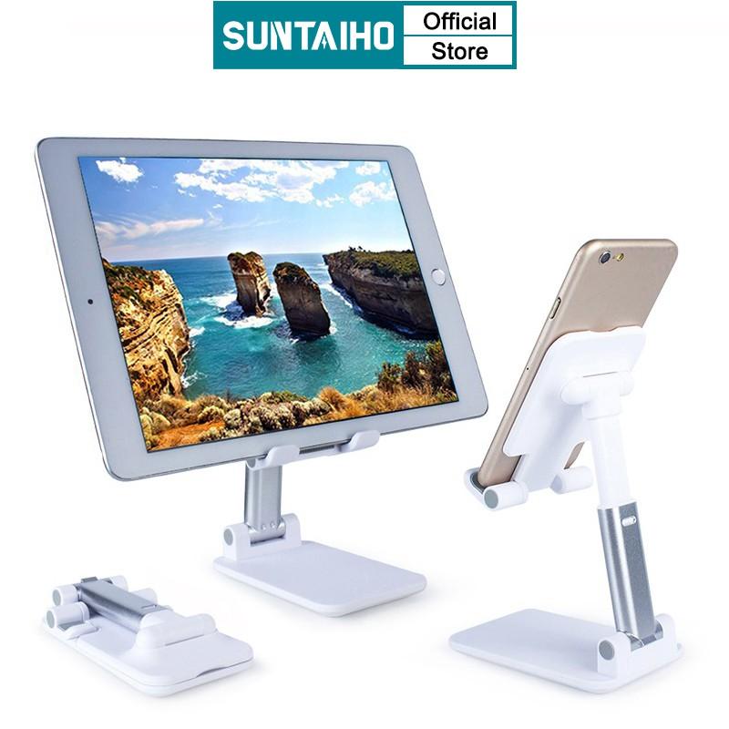 Chân Đế Điện Thoại Máy Tính Bảng Suntaiho Chất Liệu Kim Loại Thiết Kế Gấp Gọn Điều Chỉnh Được Cho iPad Pro