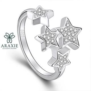Nhẫn nữ bạc 925 đính đá cao cấp nhân thời trang đẹp cá tính hình chòm sao ARAXIE -ANB-A2132-30-003 thumbnail