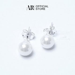Bông tai ngọc trai bạc đẹp sang chảnh, kiểu dáng tròn nhỏ xinh -AURASILVER-KT02 thumbnail