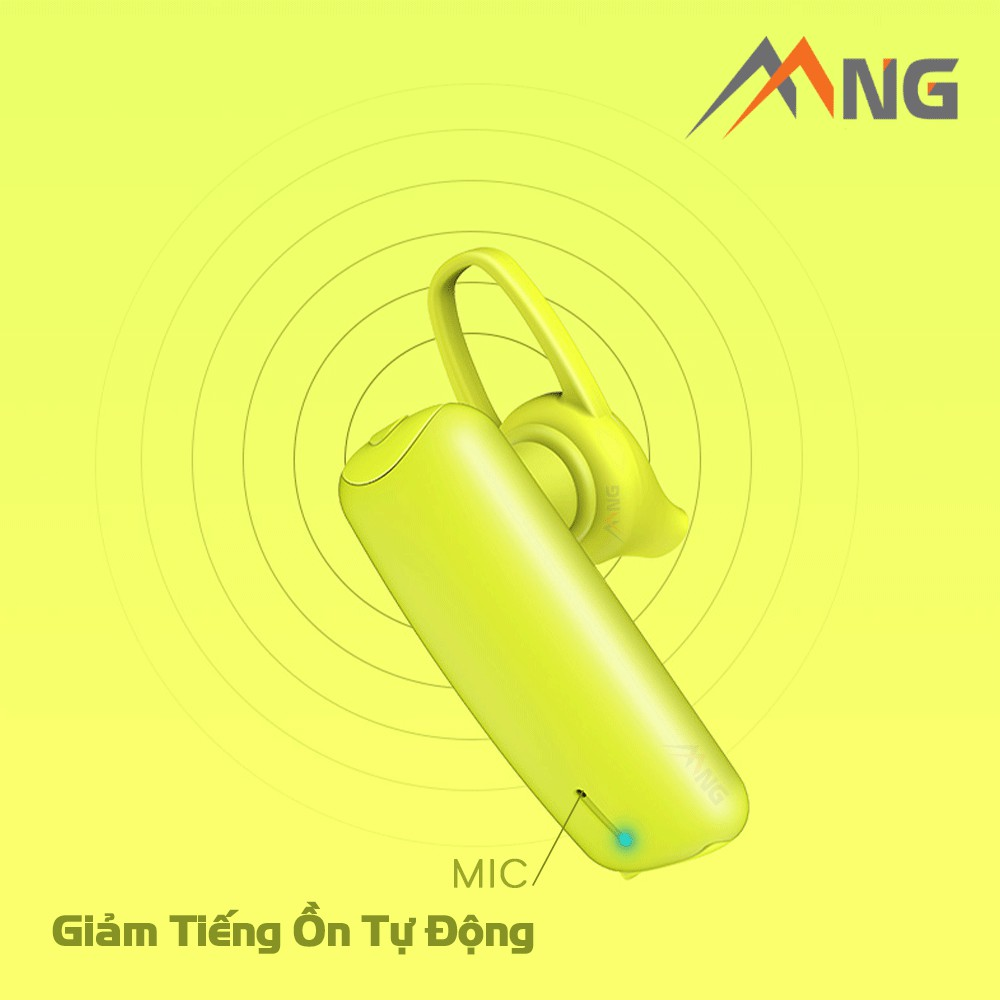 Tai nghe không dây đơn chống ồn Rockspace bluetooth Candy dành cho iphone, Samsung, Xiaome