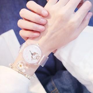 Đồng hồ nữ Dotime điện tử dây nhựa trong thời trang và cá tính ZO79
