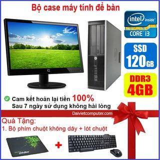 Bộ case máy tính để bàn HP CPU Core i7 / i5 / i3 / Ram 4GB / SSD 120GB / 240G + Màn hình 19 inch