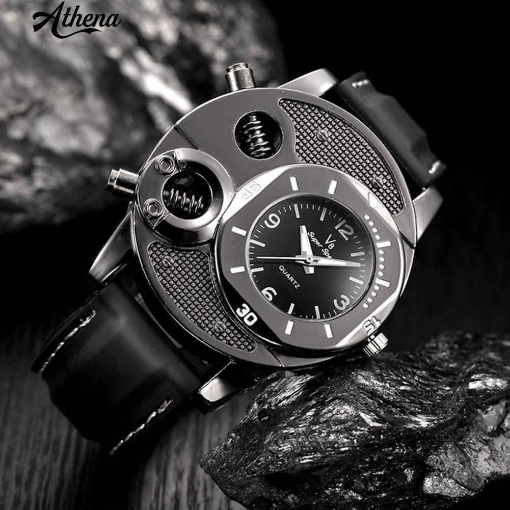 Đồng hồ đeo tay nam thiết kế mặt số bu lông cá tính