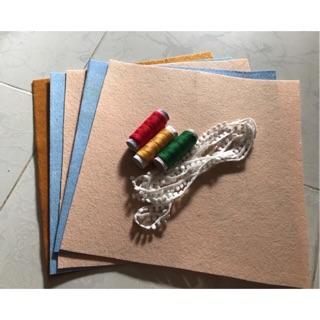 Combo vải nỉ cứng và phụ kiện handmade giá chỉ 50k