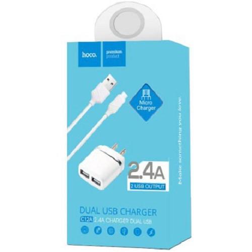 Bộ cáp và củ sạc 2 cổng Hoco C12A 2.4A cho iPhone/iPad/Samsung/Sony/HTC/LG... - Chính Hãng - Hỗ trợ - 3504775 , 1088050180 , 322_1088050180 , 80000 , Bo-cap-va-cu-sac-2-cong-Hoco-C12A-2.4A-cho-iPhone-iPad-Samsung-Sony-HTC-LG...-Chinh-Hang-Ho-tro-322_1088050180 , shopee.vn , Bộ cáp và củ sạc 2 cổng Hoco C12A 2.4A cho iPhone/iPad/Samsung/Sony/HTC/LG...