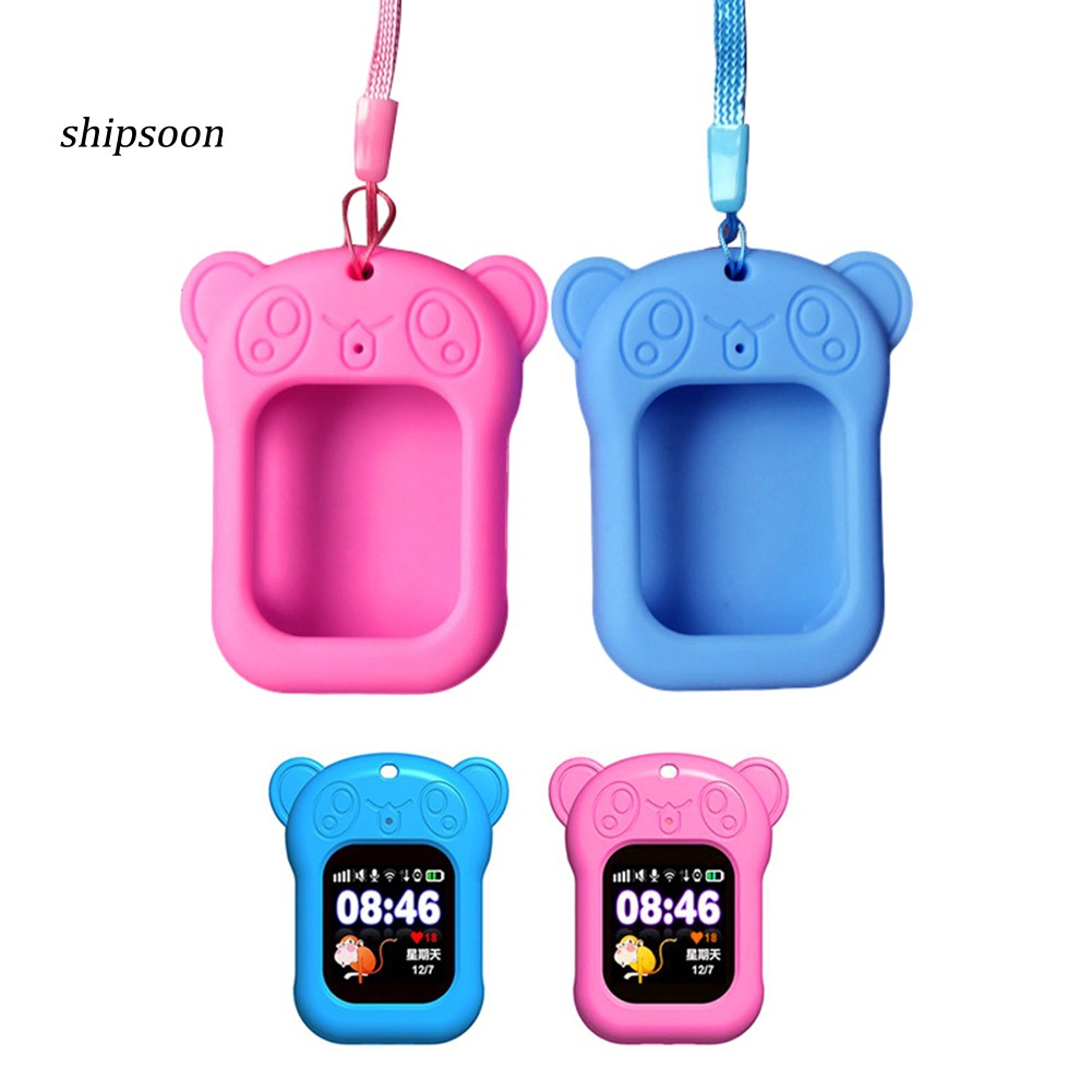 Universal Silicone Cartoon Bear Smart Watch Case for 0.96 to 1.54 inch Screen