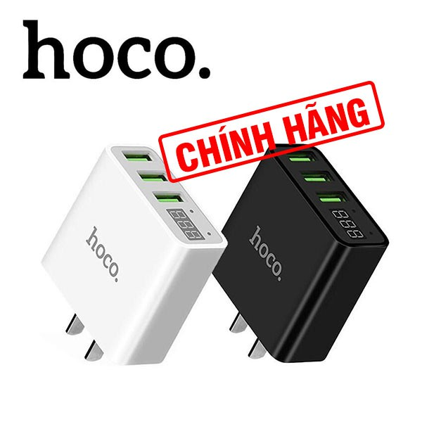 Cốc sạc 3 cổng Hoco C15 sạc ĐT và máy tính bảng, sạc nhanh, màn hình hiển thị - 21978941 , 1545030341 , 322_1545030341 , 120000 , Coc-sac-3-cong-Hoco-C15-sac-DT-va-may-tinh-bang-sac-nhanh-man-hinh-hien-thi-322_1545030341 , shopee.vn , Cốc sạc 3 cổng Hoco C15 sạc ĐT và máy tính bảng, sạc nhanh, màn hình hiển thị