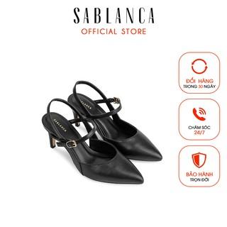 [Mã FASHIONMALLT4 giảm 15% đơn 150k] Giày sandal cao gót bít mũi nhọn - Sablanca 5050SN0084