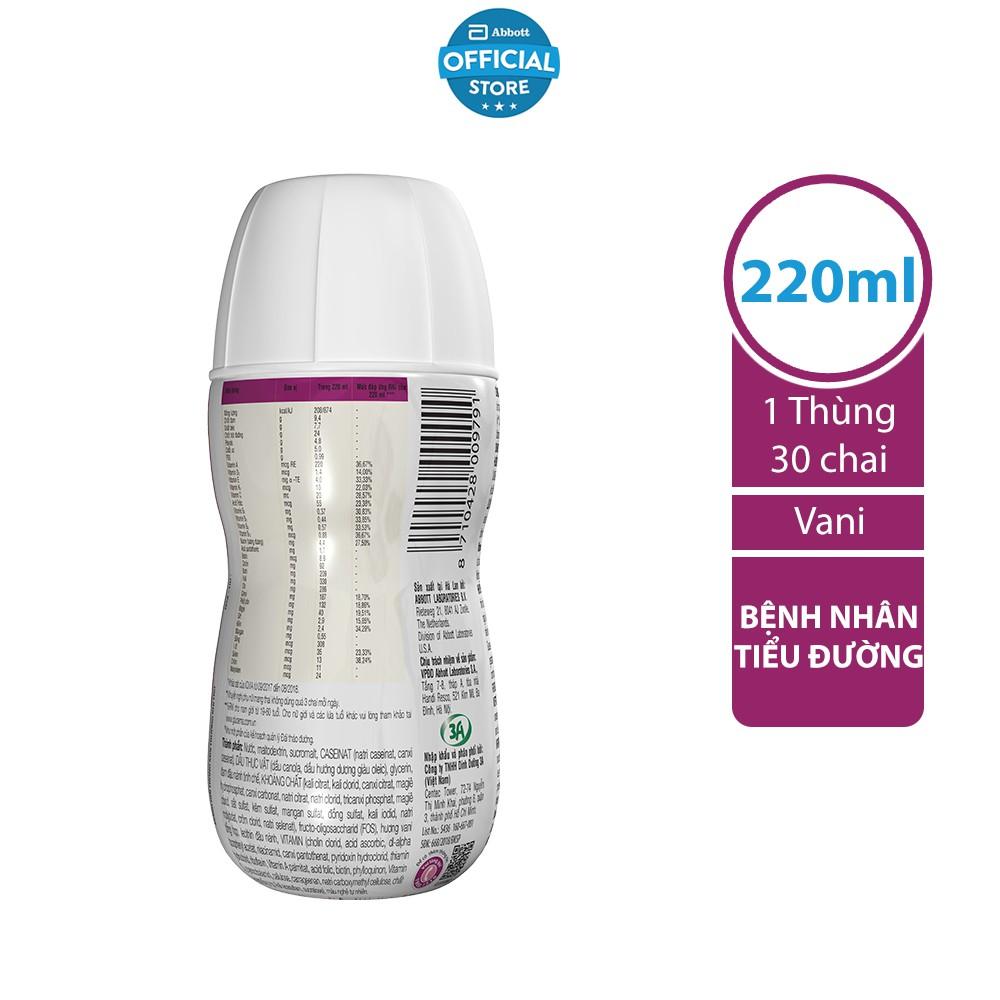 Thùng 30 Sữa nước dành cho người bị tiểu đường Glucerna Abbott 220ml/chai