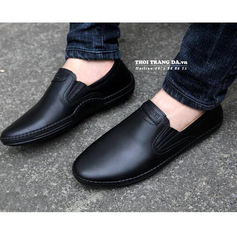 [XẢ HÀNG GIÁ GỐC] Giày lười da thật MENLI GLSP85 thiết kế đơn giản, sang trọng