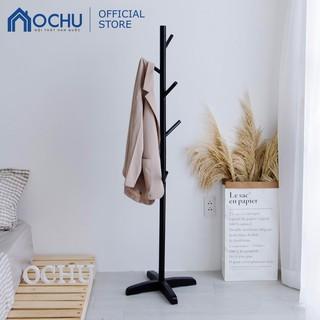 [Mã HLSNVV1212 giảm 15% đơn 99K] Cây Treo Quần Áo Đứng Bằng Gỗ OCHU - Standing Hanger - Black thumbnail