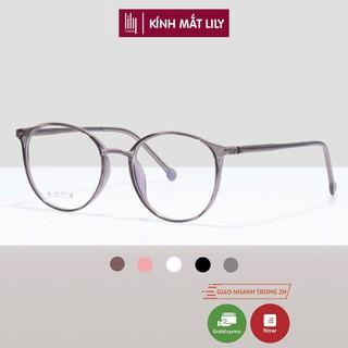 Gọng kính mắt cận thời trang thanh mảnh, nhựa dẻo phong cách Hàn Quốc Lilyeyewear 8250