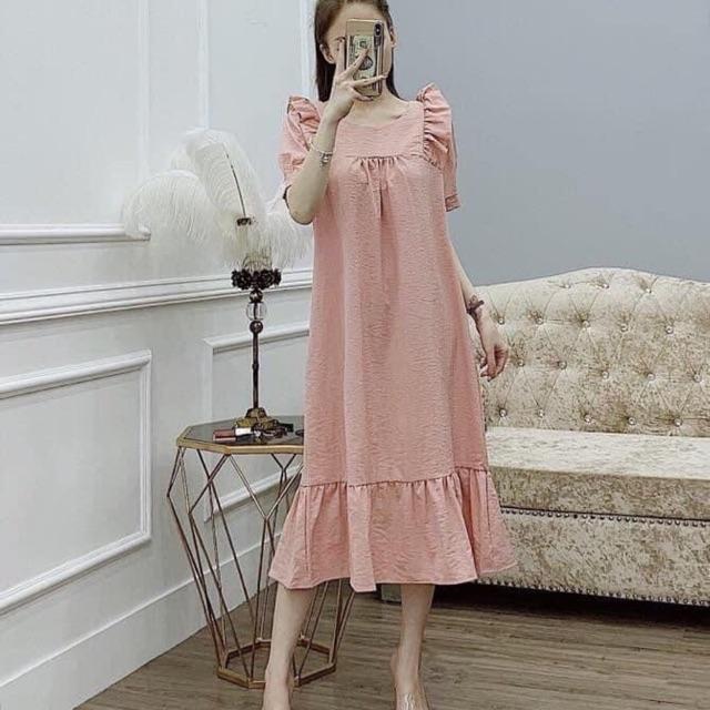 Váy đũi suông vai bèo