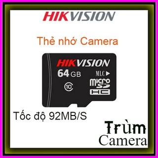 [Mã ELFLASH5 giảm 20K đơn 50K] Thẻ nhớ 64GB Hikvision Class 10 Tốc độ 92MB/s- Bảo hành 5 năm