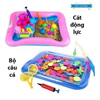 [MIỄN PHÍ VẬN CHUYỂN] Combo Bộ đồ chơi Cát động lực + Bộ câu cá cho bé595 tk