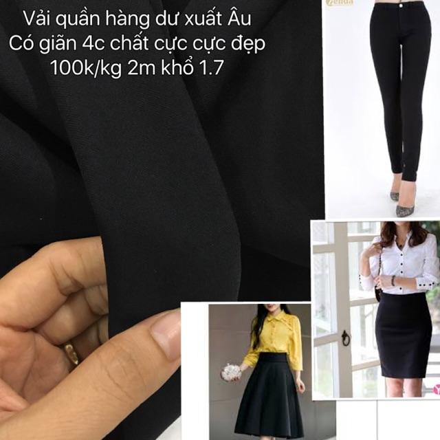 Vải quần 4 chiều đen (Hoa Pham)