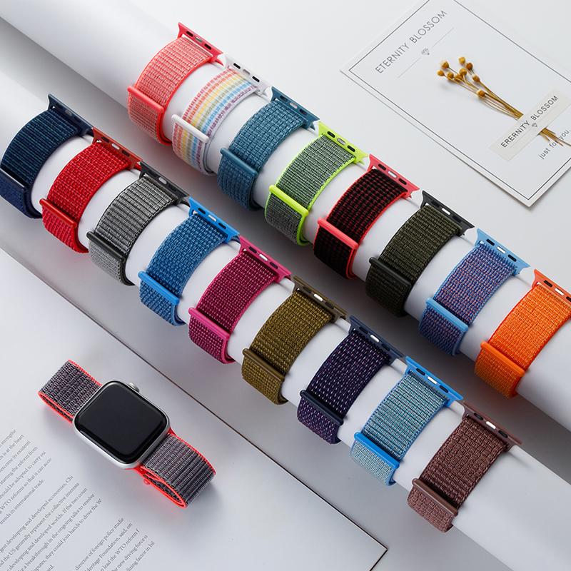 Dây đeo đồng hồ mềm mại thoáng mát 38mm 40mm 42mm 44mm dành cho iwatch SE/6/4/5/3/2/1