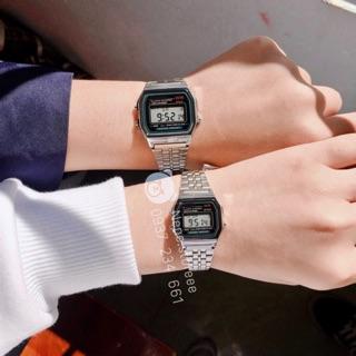 Đồng hồ nam, nữ WR unisex dây thép kiểu dáng thể thao cho tuổi teen