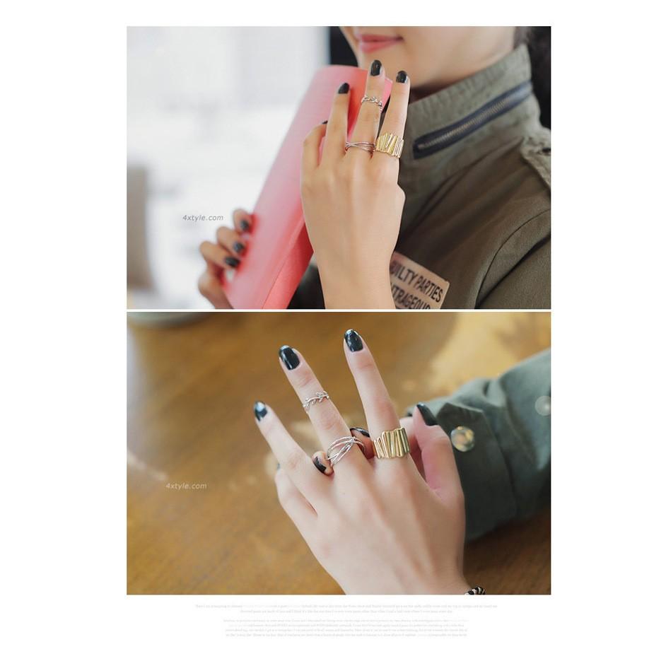 Bộ nhẫn 2cái hàn quốc cực kì xinh xắn quà tặng xinh xắn đáng yêu dễ thương quà tặng xinh xắn phong cách Hàn Quốc