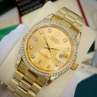 [Bảo hành 12th] Đồng hồ nam Rolex 38mm, mặt tròn đính đá cao cấp DH501 Trangmoon106 thumbnail