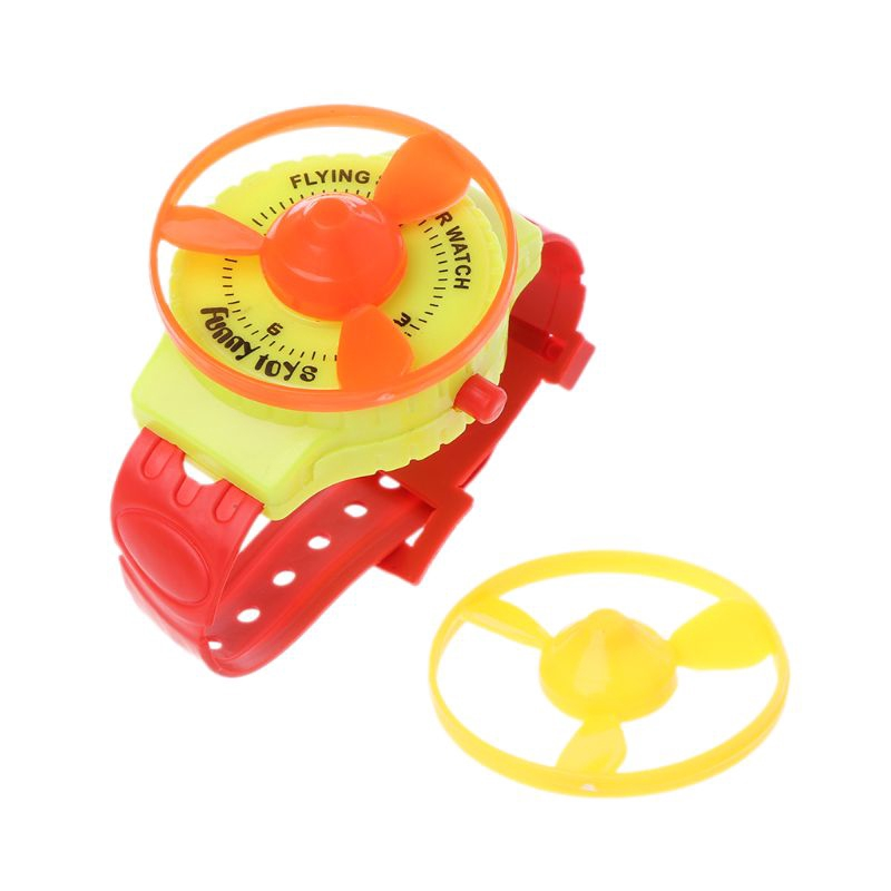 ST❀Funny UFO Flying Saucer Disc Watch Party Favors Kids Toys Wind Up Gadget Gift