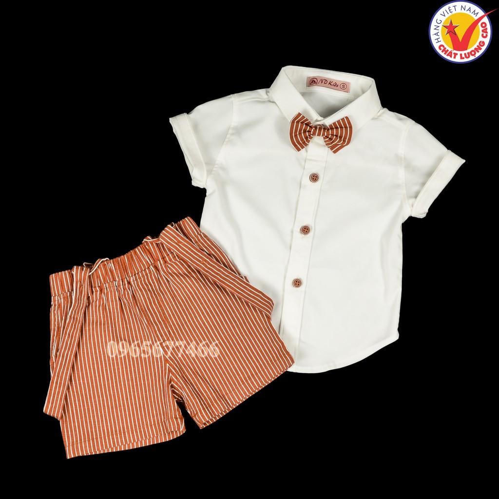 Sét Yếm bộ đồ quần áo dây sọc màu sơ mi bé trai vải cotton co dãn Việt Nam cho trẻ em tuổi 6 - 36 tháng dưới 15 kg - 23048084 , 2060336662 , 322_2060336662 , 275000 , Set-Yem-bo-do-quan-ao-day-soc-mau-so-mi-be-trai-vai-cotton-co-dan-Viet-Nam-cho-tre-em-tuoi-6-36-thang-duoi-15-kg-322_2060336662 , shopee.vn , Sét Yếm bộ đồ quần áo dây sọc màu sơ mi bé trai vải cotton