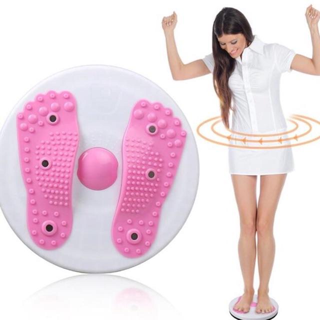 Đĩa xoay eo hình bàn chân, đĩa lắc eo tập thể dụng massage chân thư giãn, giảm mỡ bụng, gym
