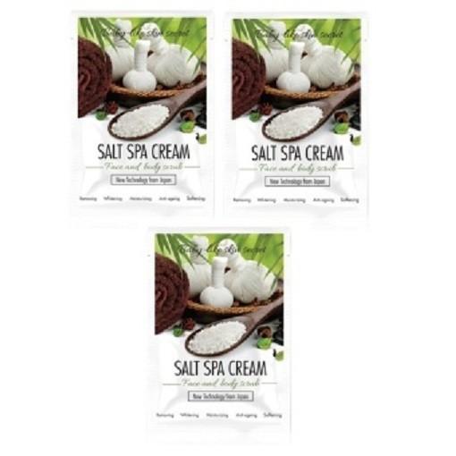 Bộ 3 gói Kem muối tẩy tế bào chết làm trắng da mặt và toàn thân SoKiss Salt Spa Cream Face and Body - 2979540 , 217013575 , 322_217013575 , 135000 , Bo-3-goi-Kem-muoi-tay-te-bao-chet-lam-trang-da-mat-va-toan-than-SoKiss-Salt-Spa-Cream-Face-and-Body-322_217013575 , shopee.vn , Bộ 3 gói Kem muối tẩy tế bào chết làm trắng da mặt và toàn thân SoKiss Salt