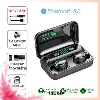 Tai Nghe Bluetooth Không Dây Nhét Tai 5.0 Amoi F9 Pro Nút Cảm Ứng Kiêm Sạc Pin Dự Phòng HihaShop01