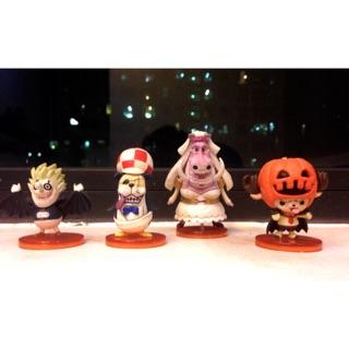Mô hình One piece- wcf set 4 con hallowen