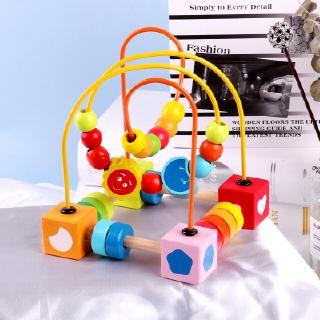 Giáo dục sớm cho trẻ em câu đố hạt cườm đồ chơi đính hạt đặt khối đồ chơi cho bé Đồ chơi giáo dục sớm 2-3 tuổi 4 tuổi