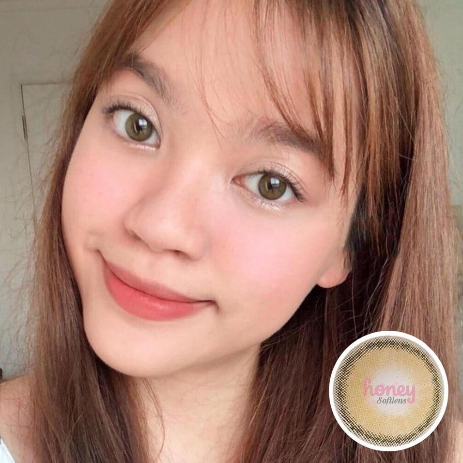 Kính áp tròng màu nâu phong cách công chúa Hàn Quốc