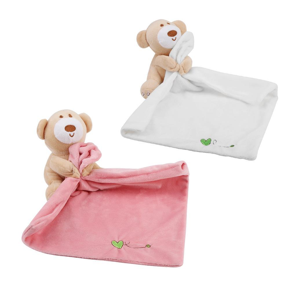 Lovely Bear Plush Soother Security Blanket Soft Baby Kids Toy Newborn Gift